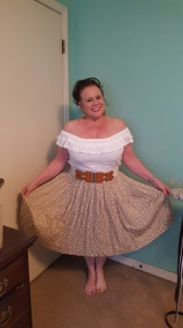 Teresa Polka dot skirt